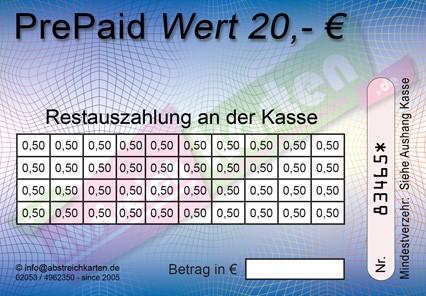 20 € Abstreichkarte HKS44