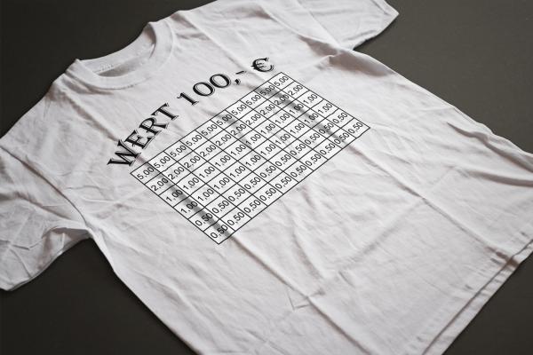 Abstreich T-Shirt weiß von www.abstreichkarten.de