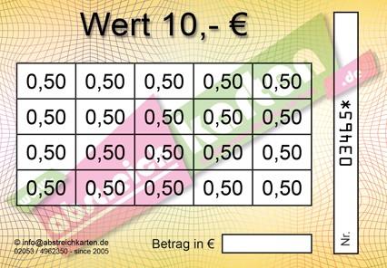 Clean Card Classik HKS1 von www.abstreichkarten.de