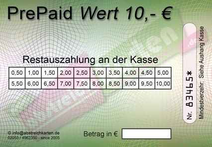 10 € Abstreichkarte HKS63