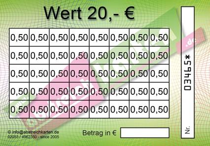 Clean Card Classik HKS67 von www.abstreichkarten.de