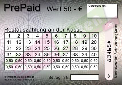 50 € Abstreichkarte HKS 88