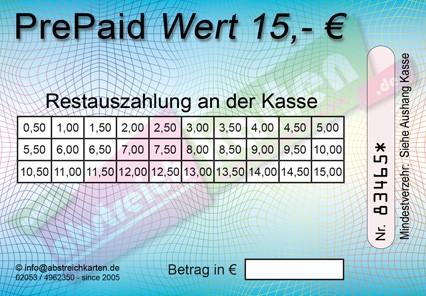 15 € Abstreichkarte HKS50