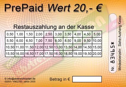 20 € Abstreichkarte HKS 6